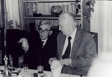Julian Ochnik z kapelanem AK /1985/