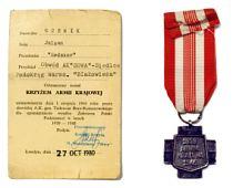 Julian Ochnik - Krzyż Armi Krajowej, Londyn 1980 r.