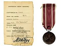 Julian Ochnik - czterokrotny Medal Wojska nadany przez Ministrstwo Obrony Narodowej, Londyn 1948 r.