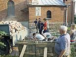 Odbudowa kościoła. Szynkielów. 25.05.2007