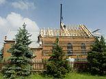 Odbudowa kościoła. Szynkielów. 5.06.2007 r.