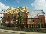 Odbudowa kościoła. Szynkielów. 6.06.2007 r.