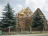 Odbudowa kościoła. Szynkielów. 8.06.2007 r.