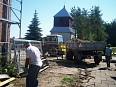 Odbudowa kościoła. Szynkielów. 17.06.2007 r.