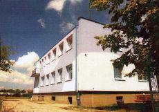 Budowa Ośrodka Zdrowia.  Zdjęcie ze zbioru Piotra Pabisiaka