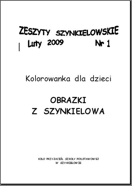 Zeszyty Szynkielowskie