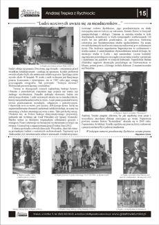 Artykuł w Gazecie Wielunskiej pt. Andrzej Trepka z Rychłocic